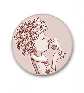 "Sticker rond ""Mme Bouquet"""